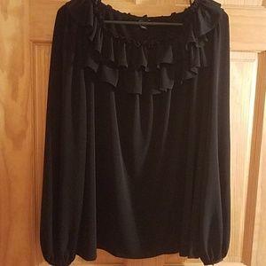 Ann Taylor sz L black blouse